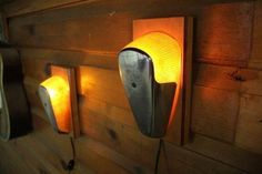What a great idea for a wall sconce, looks like it would be pretty easy to make once you find the right classic tail lights. Shared by www.highroadorganizers.com