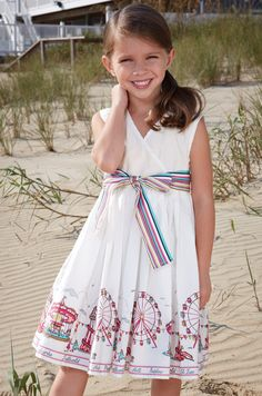 A perfect dress for a young Jersey girl to wear to the shore this summer to celebrate the revivial of the boardwalks.   Source: CWDKids Designer: Little Joule
