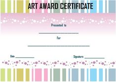 Art achievement certificate template art certificate templates 20 art certificate templates to reward immense talent in artwork and creativity demplates yadclub Choice Image