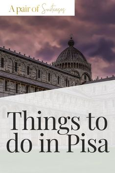 Read on for my curated list of things to do in Pisa. Plus check out the Pisa restaurants I recommend you visit for great food and atmosphere Italy Travel Tips, Rome Travel, Travel Destinations, European Destination, European Travel, Things To Do In Italy, Visit Venice, Pisa Italy, Northern Italy