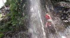Cayoning en Antuco Parque Nacional laguna del Laja