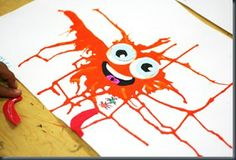 Drippy Monsters (colour mixing with marbles)