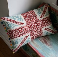 Union Jack Tapestry Cross Stitch Chart ~ grannyknit ( I wonder if my irish bf will let us have these in our house, lol ;)
