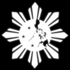 I love how the map of the country was inside the Filipino Sun, but I'd put the three stars outside