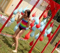 Water-themed obstacle course