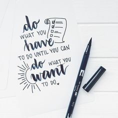 Brush lettering with Tombow ABT Dual brush pen . Brush lettering with Tombow ABT Dual brush pen Mo Lettering Brush, Hand Lettering Quotes, Creative Lettering, Typography Quotes, Lettering Ideas, Handwritten Quotes, Calligraphy Quotes Doodles, Doodle Quotes, Calligraphy Quotes Motivation