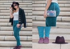 BAT IN THE SUN Girl With Curves, High Waist Jeans, Round Sunglasses, Black Jeans, Zara, Teal, Blazer, Pants, Style