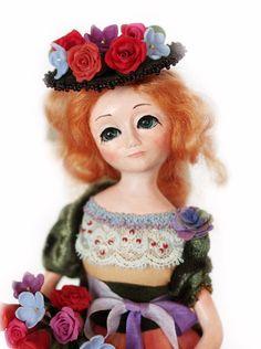 Art OOAK doll  Handmade interior summer doll by BalyginaArtDolls