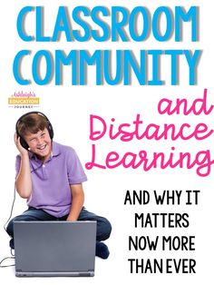 Distance Learning and Classroom Community - Ashleigh's Education Journey Online Classroom, New Classroom, Flipped Classroom, Google Classroom, Classroom Ideas, Home Learning, Learning Resources, Teaching Tips, Building Classroom Community