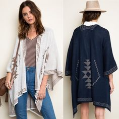 "XX The SHINTA diamond knit poncho -WHITE This diamond knit poncho gives a tribal feel with diamond patterns. Dimensions 55"" x 41"" fabric 100% acrylic. Available in WHITE, NAVY & MOCHA NO TRADE, PRICE FIRM Sweaters Shrugs & Ponchos"