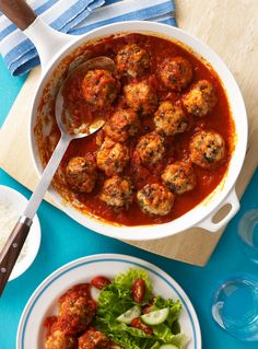 Serve these meatballs in a salad, with pasta, on bread, or just with a knife and fork. Recipe: Turkey Meatballs   - Delish.com