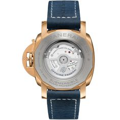 Novedades Panerai 2021 - Panerai Submersible Bronzo Blu Abisso PAM01074 Trasera Panerai Submersible, Luminor Marina, Latest Watches, Jewelry Boards, Van Cleef Arpels, Suede Leather, Omega Watch, Bring It On, Pure Products