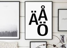 Scandinavian Letters Swedish Alphabet Letters Art Letters