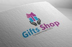 Gifts Shop Logo by Josuf Media on Creative Market Badge Template, Logo Templates, Music Festival Logos, Gift Logo, Crest Logo, Construction Logo, Shop Logo, Slogan, How To Draw Hands