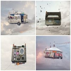 These flying house photos are amazing!