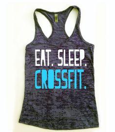 Crossfit Tank Top // Eat Sleep Crossfit // Eat by Built2InspireU, $22.00