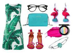 PINK FLAMINGO by audreyinwonderland on Polyvore featuring moda, Dolce&Gabbana, Schutz, Michael Kors, Disney, Erstwilder and Urban Decay
