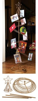 spiral holiday tree christmas card holder - Christmas Card Tree Holder
