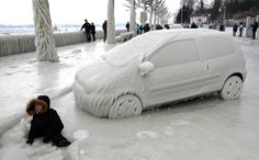 Meanwhile in Switzerland A boy sits in front of an ice covered car in Versoix, near Geneva, Switzerland, on February Bitterly cold weather sweeping across Europe Pictures Images, Cool Pictures, Cool Photos, Amazing Photos, Funny Pictures, Unbelievable Pictures, Random Pictures, Beautiful Pictures, Ice Car
