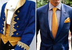 If a couple wants a Beauty and the Beast-themed wedding, they could do a LOT worse than these ensembles for the men!