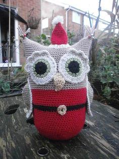 Ravelry: Christmas Santa Owl doorstop pattern by Sally Titterton
