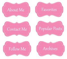 Pink Tag Set for Blogs!!! FREE
