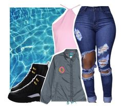 """""""-SUMMERELLA"""" by pinksemia ❤ liked on Polyvore featuring NIKE and ODD FUTURE"""
