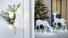 Choisir decoration lumineuse porte entree