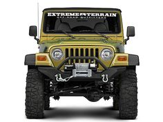 Hyline Offroad Front Bumper ADD ON Winch Guard for Jeep Wrangler YJ TJ 1987-2006