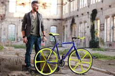 "BRN Fixed Bike - Blue ""Cromovelata""  www.bernardisrl.net"