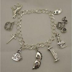 SALE! The Vampire Diaries Elena Stefan Damon Bonnie Tyler Klaus... ($14) ❤ liked on Polyvore featuring jewelry, bracelets, charm bracelet, antique silver jewelry, charm jewelry, charm bangles and antique silver charm bracelet