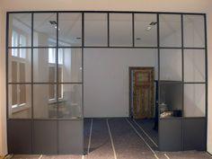 Nassauische Str. | Stahlblau Steel Frame Doors, Glass Room, Black Glass, Ramen, New Homes, Windows, Inspiration, Living Room, Architecture