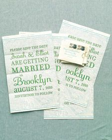 A Save-the-Date Map - Martha Stewart Weddings Save-the-date