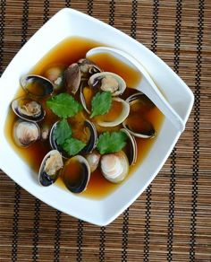 Japanese Miso Soup with Clams