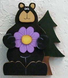 FREE PRIMITIVE BEAR PATTERNS TO PAINT ON WOOD | Free Wood Craft Patterns from Country Corner Crafts! Pattern Page