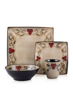 Sango Vega 16-pc. Square Dinnerware Set | Dining ... | Pinterest | Sango dinnerware Dinnerware and Dining  sc 1 st  Pinterest & Sango Vega 16-pc. Square Dinnerware Set | Dining ... | Pinterest ...