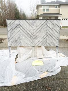Harringbone Design Headboard