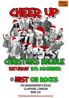 Cheer Up Christmas Bauble Saturday 5th December 2015 in London Festive night celebrating the music of Stock Aitken Waterman
