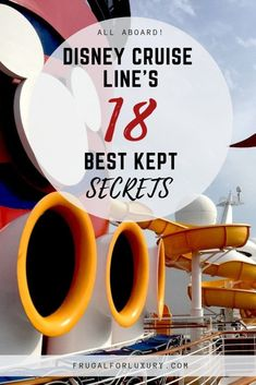 Disney Cruise Line's 18 Best Kept Secrets - Frugal For LuxuryYou can find Disney cruise line and more on our website.Disney Cruise Line's 18 Best Kept Secrets - Frugal For Luxury Disney Halloween Cruise, Disney Wonder Cruise, Disney Fantasy Cruise, Disney Cruise Ships, Disney Fantasy Ship, Disney Magic Cruise Ship, Best Cruise, Cruise Tips, Cruise Travel
