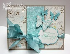 Pool Party, Sahara Sand, Attic Boutique dsp. Butterfly (Creative Elements) embossed vanilla.