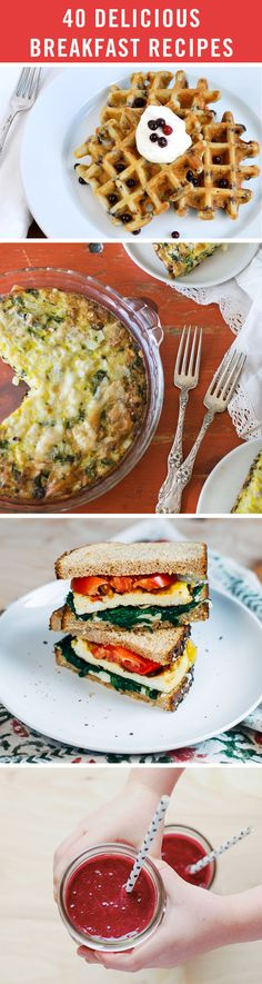 Breakfast is the most important meal of the day, and we want to help you do it right. We've got 40 breakfast recipes to help you make the most of your mornings — from healthy egg dishes to gourmet toast.