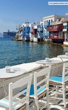 Little Venice, Mykonos Island, Greece Cruise Greek Islands, Greek Cruise, Greece Islands, Great Places, Beautiful Places, Places To Travel, Places To Visit, Zakynthos, Myconos