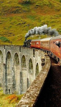 The Train To HOGWARTS - Glenfinnan Viaduct, well known for Harry Potter fans, Highlands, Scotland (by loose_grip) Highlands Scotland, Scotland Uk, Scottish Highlands, Scotland Castles, Scotland Travel, Edinburgh, Glasgow, Places To Travel, Places To See