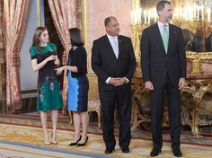 King Felipe and Letizia hosted a lunch for Costa Rican President