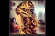 Bridal trial half up swirls and braids