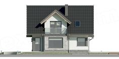 Unique Country House Plan With Four Bedrooms And Three Bathrooms - House And Decors Dream Home Design, Home Design Plans, Modern House Plans, Modern House Design, Modern Architectural Styles, Porch House Plans, French Country House Plans, Modern Architecture House, Design Case