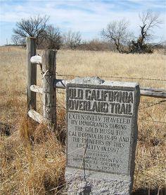 Joe Wicks' photograph of the California Overland Trail marker on the Townsley-Murdock site. California History, California Love, California Travel, Grand Island Nebraska, Trail Signs, Zane Grey, Pioneer Life, Westward Expansion, Joe Wicks