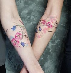 Matching sister tattoos by Simona Blanar