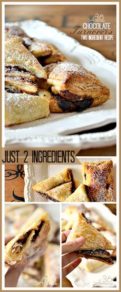 Recipe: Easy Two Ingredient Chocolate Turnovers… So yummy! #recipes #chocolate the36thavenue.com