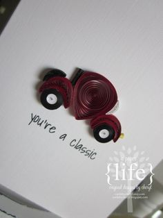 ~ a paper {life}: ~ quilled classic car